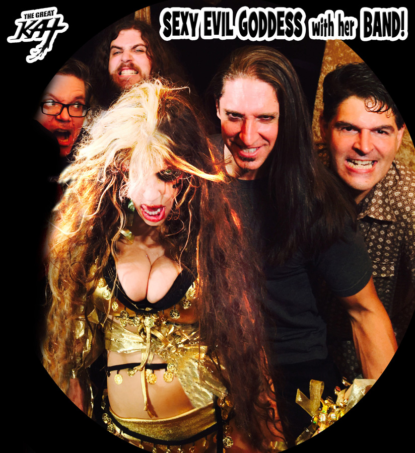 """SEXY EVIL GODDESS with her BAND at LISZT'S """"HUNGARIAN RHAPSODY #2"""" MUSIC VIDEO SHOOT! !! Sneak Peek from New DVD!"""