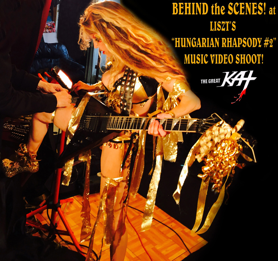 """BEHIND the SCENES! at LISZT'S """"HUNGARIAN RHAPSODY #2"""" MUSIC VIDEO SHOOT from 7/9/16 KAT VIDEO! SNEAK PEEK from NEW DVD!"""