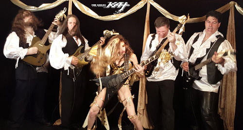 "LISZT'S ""HUNGARIAN RHAPSODY #2"" NEW GREAT KAT MUSIC VIDEO COMING SOON to iTUNES! Filmed in 4K Video in July 2016, The Great Kat SHREDS LISZT'S famous ""HUNGARIAN RHAPSODY #2"" (heard on cartoons!!) on BOTH Guitar AND Violin, with her ALL-MALE BAND, Kat Slaves, VLAD the IMPALER, Composer FRANZ LISZT & more Insanity! Video Available August 2016 & on Upcoming New Great Kat DVD!!"