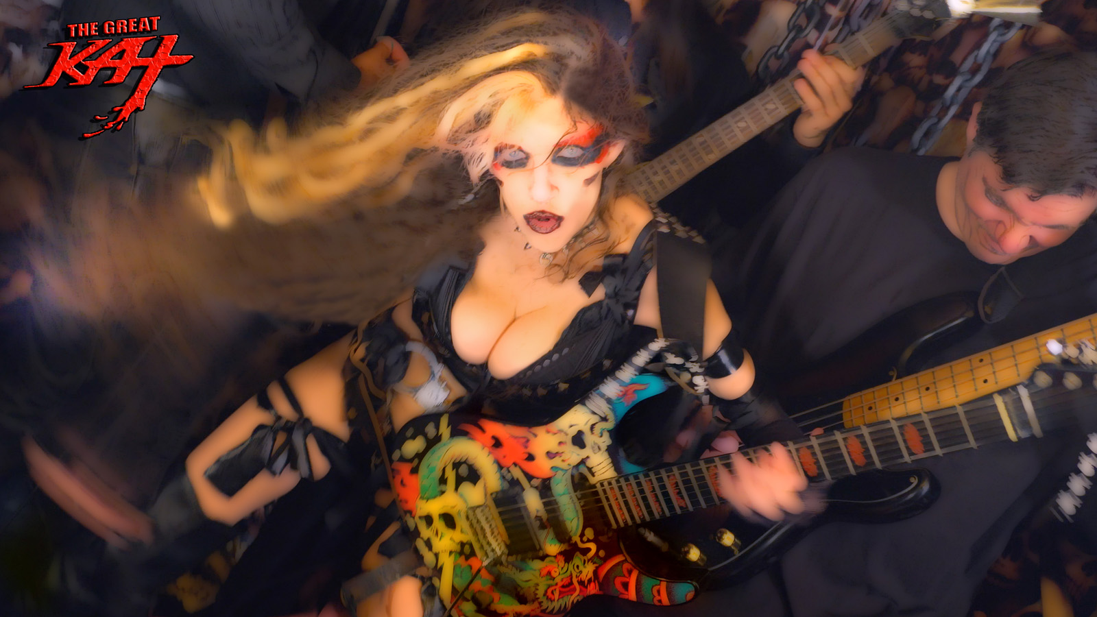 """MESMERIZING SHE-DEVIL! From The Great Kat's LISZT'S """"HUNGARIAN RHAPSODY #2"""" MUSIC VIDEO!"""