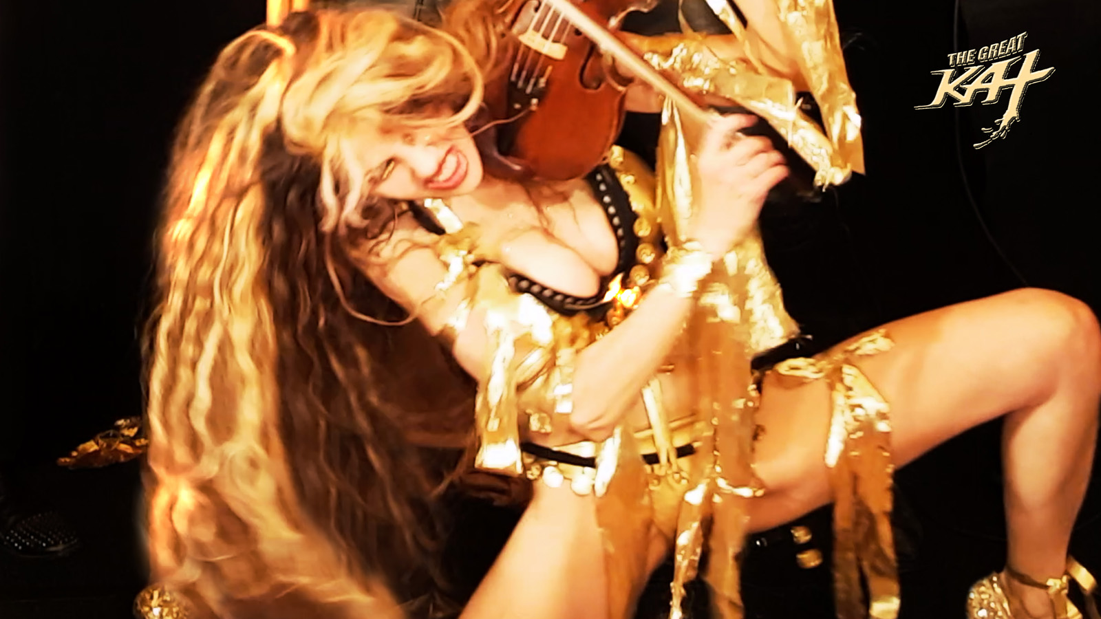 """HOT VIOLIN GYPSY GODDESS!!!!!! From The Great Kat's LISZT'S """"HUNGARIAN RHAPSODY #2"""" MUSIC VIDEO!!!!"""