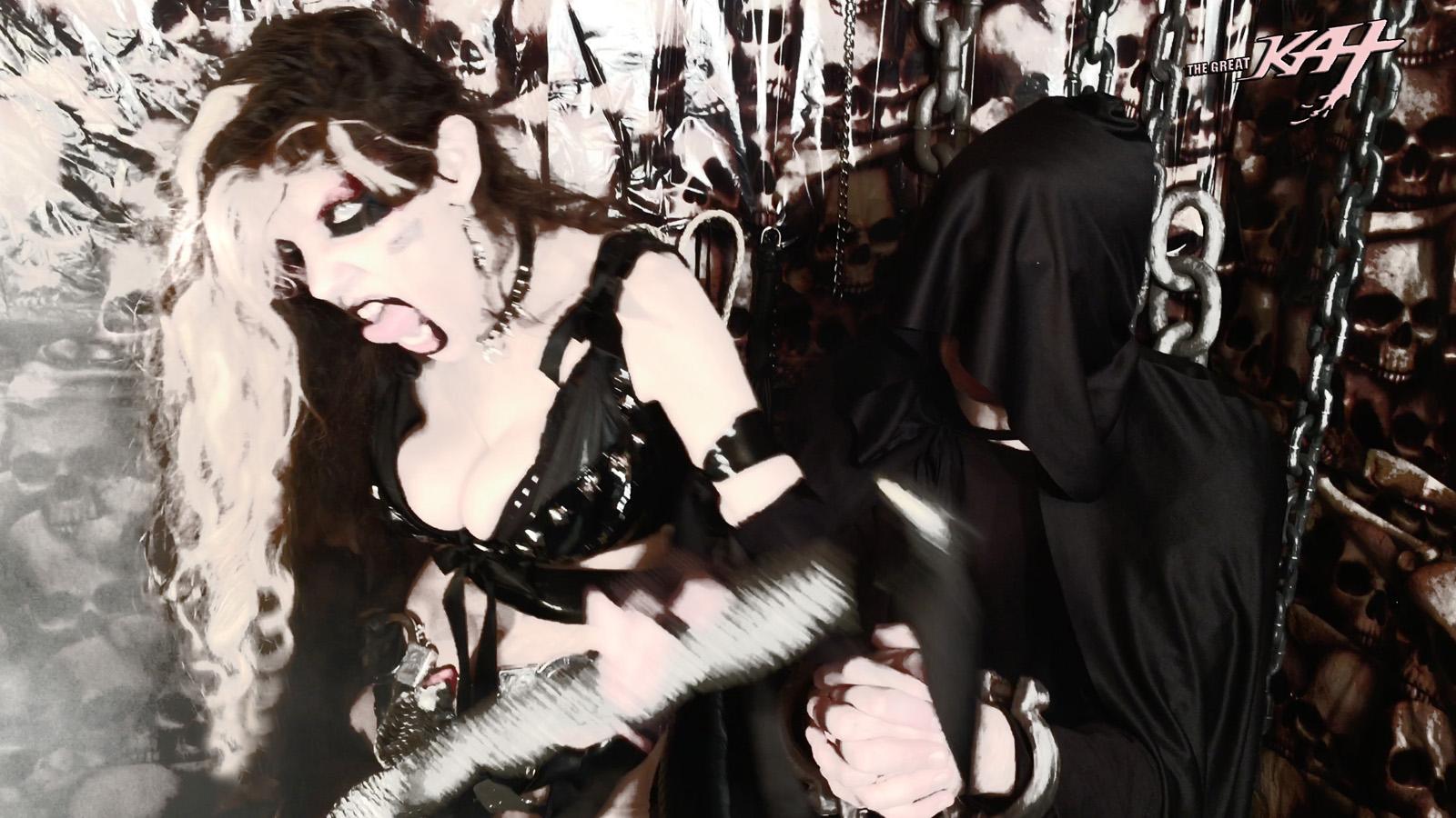 "BRUTAL, EVIL MISTRESS KAT! From The Great Kat's LISZT'S ""HUNGARIAN RHAPSODY #2"" MUSIC VIDEO!"