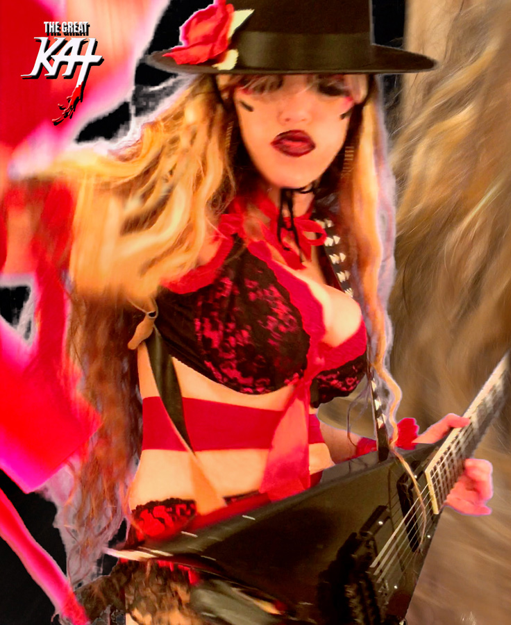 """GYPSY GUITAR SHREDDER! From The Great Kat's LISZT'S """"HUNGARIAN RHAPSODY #2"""" MUSIC VIDEO!!!!"""