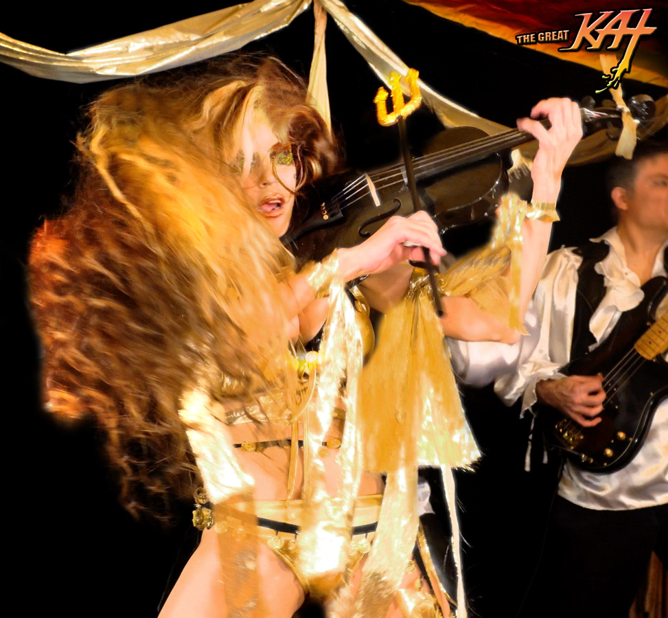 "DEMONIC VIOLIN FRENZY! From The Great Kat's LISZT'S ""HUNGARIAN RHAPSODY #2"" MUSIC VIDEO!"