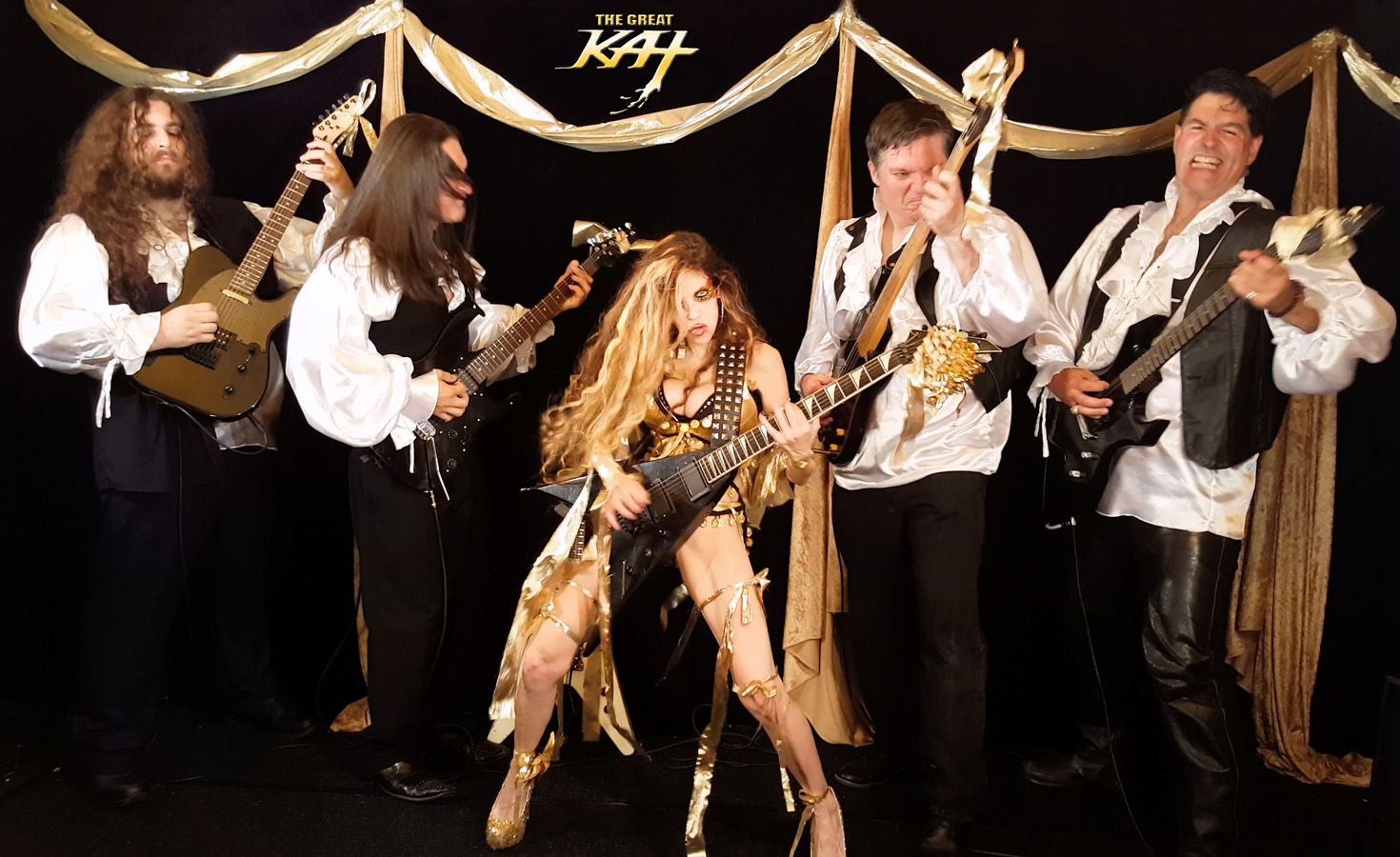 """THE GREAT KAT CLASSICAL GODDESS SHREDS with her HUNK BAND!  From The Great Kat's LISZT'S """"HUNGARIAN RHAPSODY #2"""" MUSIC VIDEO!!!!"""