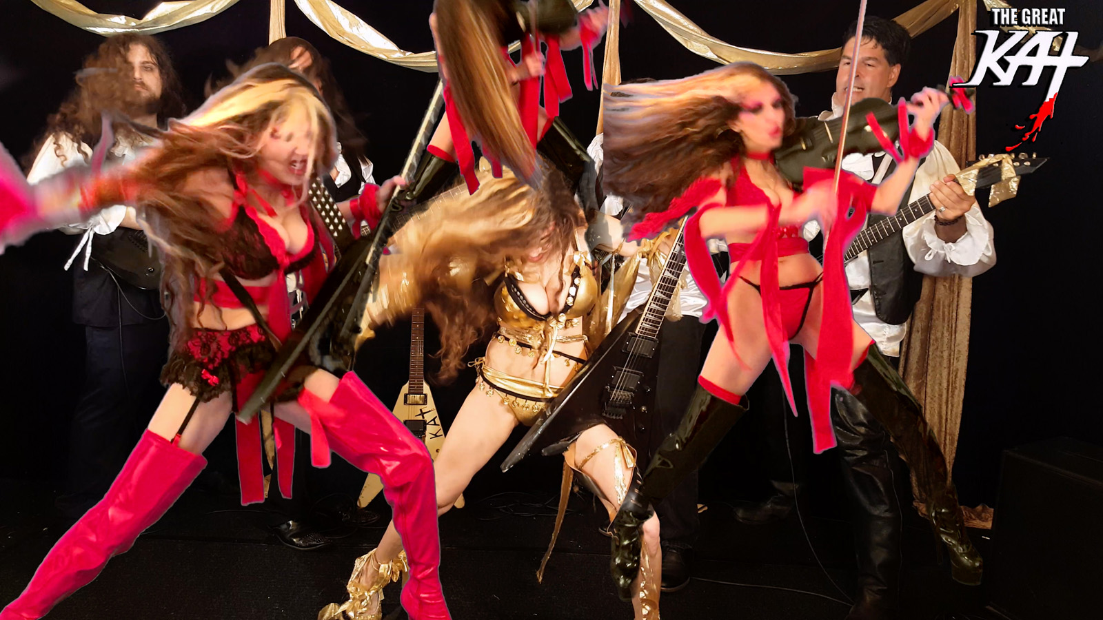 """THE GREAT KAT GUITAR/VIOLIN DOUBLE VIRTUOSO! From The Great Kat's LISZT'S """"HUNGARIAN RHAPSODY #2"""" MUSIC VIDEO!"""