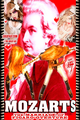 "NEW! ""MOZART'S THE MARRIAGE OF FIGARO OVERTURE"" MUSIC VIDEO SINGLE DVD (2:09)! By The Great Kat! PERSONALIZED AUTOGRAPHED by THE GREAT KAT! (Signed to Customer's Name) http://store10552072.ecwid.com/products/138892667"