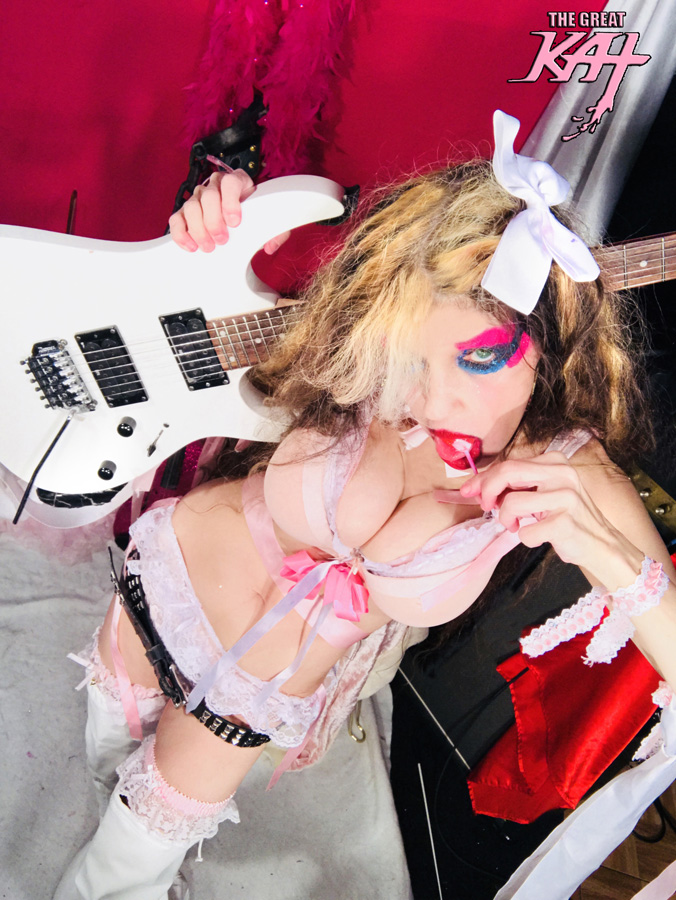 THE GREAT KAT LOVES HER CANDY! NEW GREAT KAT CD PHOTO!