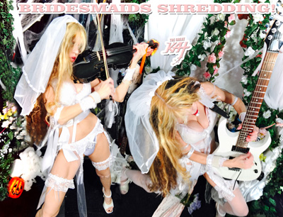"BAZZINI'S ""THE ROUND OF THE GOBLINS"" Great Kat Music Video OUT SOON!! The Great Kat Juilliard Grad Violin Virtuoso/""Top 10 Fastest Shredders Of All Time"" (Guitar One Mag.) SHREDS Bazzini's VIRTUOSO VIOLIN SHOWPIECE ""THE ROUND OF THE GOBLINS"" at INSANE Tempos, with FLYING RICOCHETS on VIOLIN and FLYING FINGERS on GUITAR on New Great Kat Music Video Filming Right Now (from Upcoming New DVD)!"