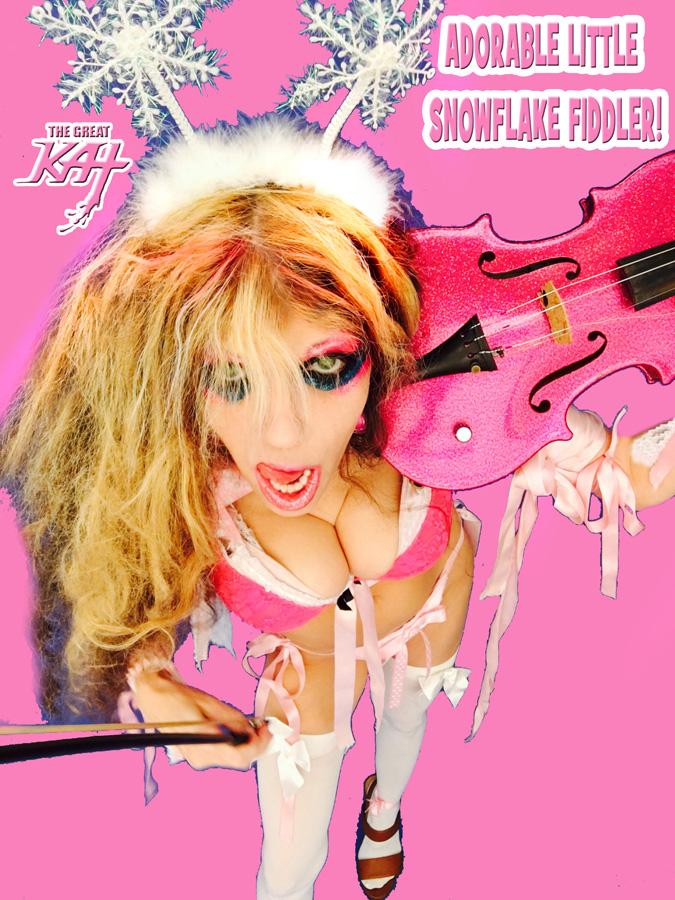 ADORABLE LITTLE SNOWFLAKE FIDDLER! SNEAK PEEK FROM NEW GREAT KAT DVD!