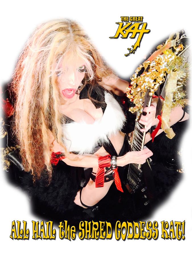 ALL HAIL the SHRED GODDESS KAT! NEW GREAT KAT CD PHOTO!