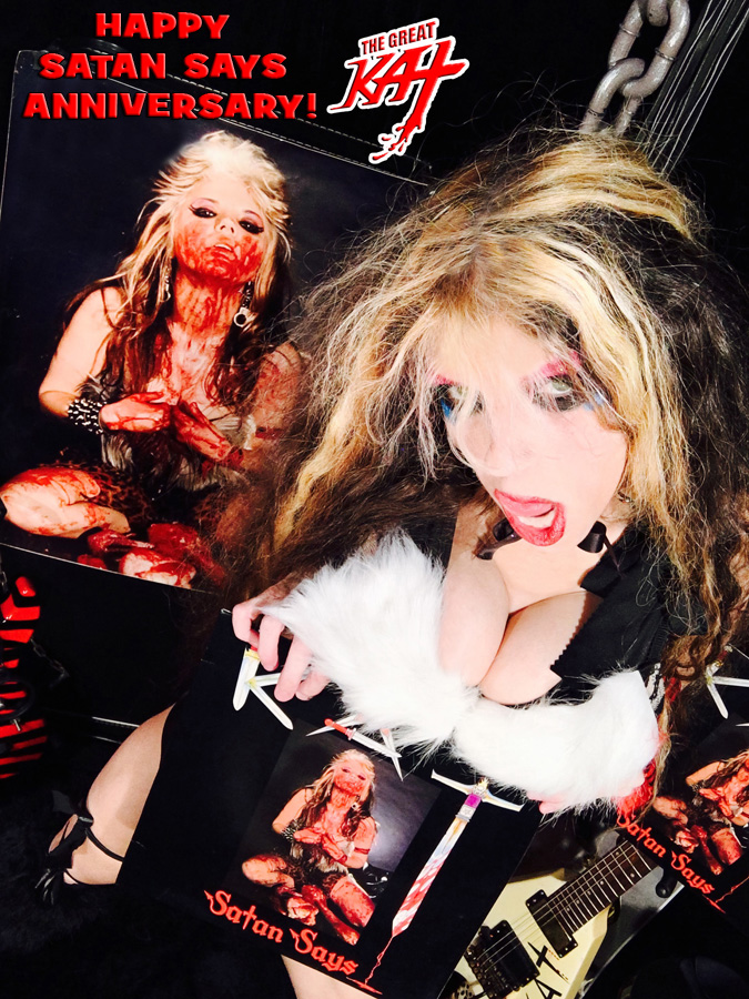 "HAPPY ""SATAN SAYS"" ANNIVERSARY! NEW GREAT KAT CD PHOTO!"