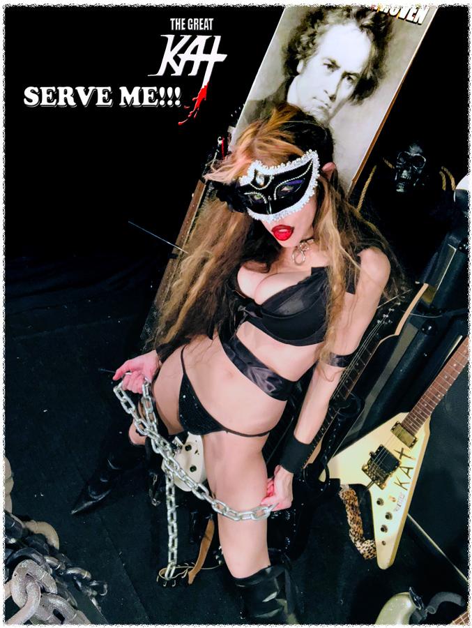 SERVE ME!! NEW GREAT KAT CD PHOTO!