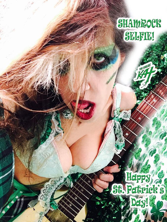 "SHAMROCK SELFIE! Happy St. Patrick's Day!! THE GREAT KAT SHREDS SARASATE'S ""CARMEN FANTASY"""