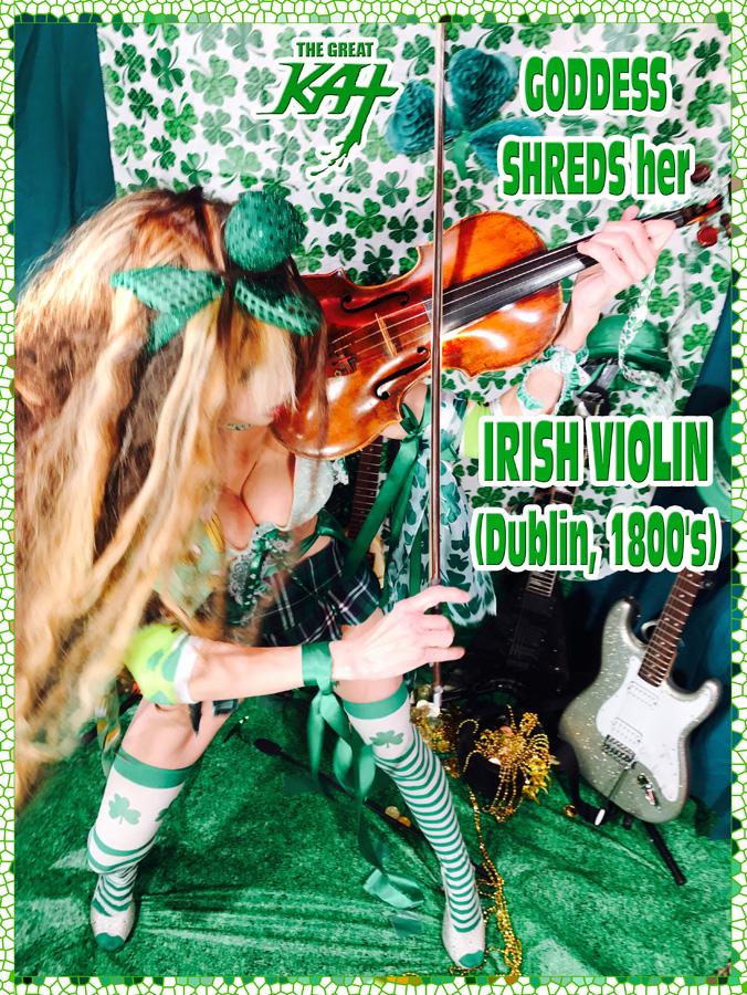 "GODDESS SHREDS her IRISH VIOLIN (Dublin, 1800's) ! THE GREAT KAT SHREDS SARASATE'S ""CARMEN FANTASY"""