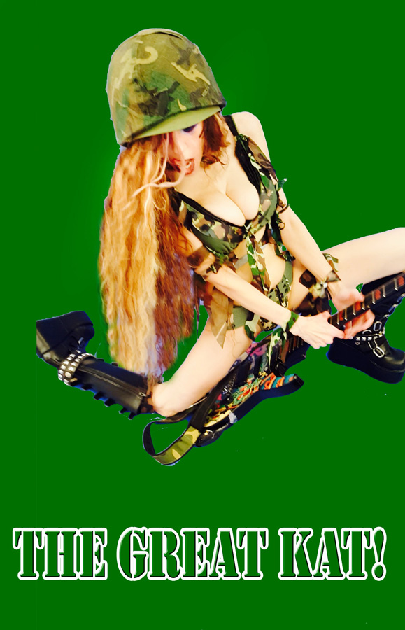 "THE GREAT KAT! SHRED SOLDIER! From The Great Kat's ""TERROR"" MUSIC VIDEO!"