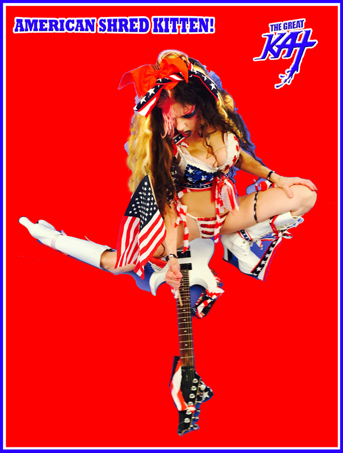"AMERICAN SHRED KITTEN! From The Great Kat's ""TERROR"" MUSIC VIDEO!"