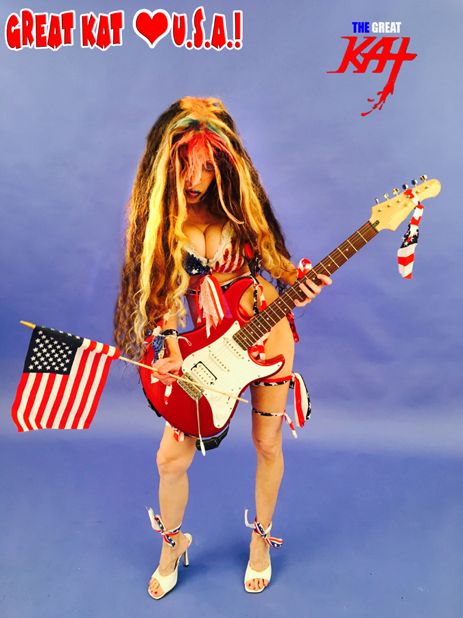 """GREAT KAT LOVES U.S.A.! From The Great Kat's """"TERROR"""" MUSIC VIDEO!"""