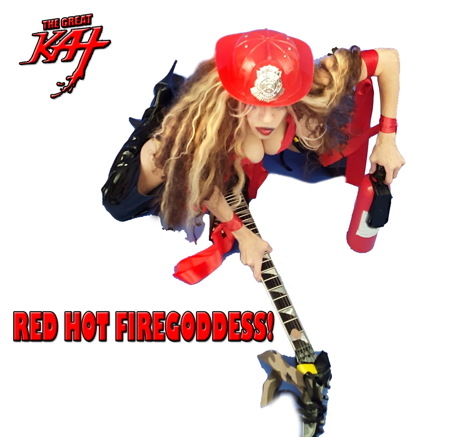 "RED HOT FIREGODDESS! From The Great Kat's ""TERROR"" MUSIC VIDEO!"