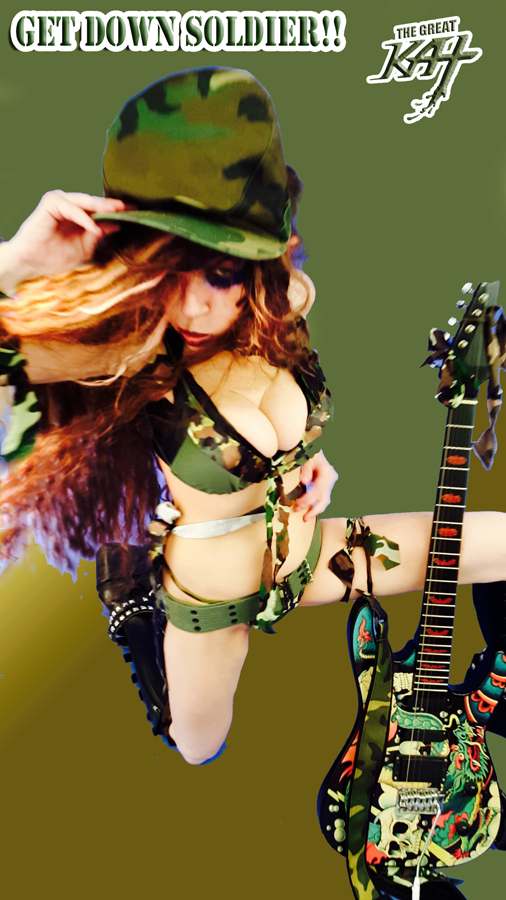 """GET DOWN SOLDIER!! From The Great Kat's """"TERROR"""" MUSIC VIDEO!"""