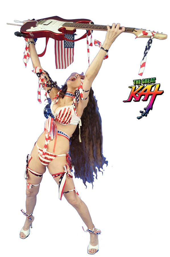 "HOT AMERICAN SHREDDER!!! From The Great Kat's ""TERROR"" MUSIC VIDEO!"