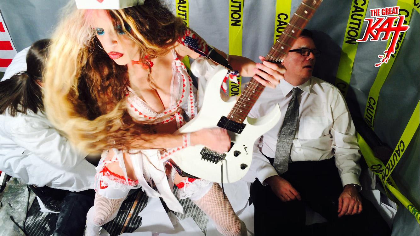 "NURSE KAT SHREDS! From The Great Kat's ""TERROR"" MUSIC VIDEO!"