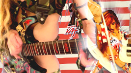 """FIERCELY PATRIOTIC SHREDDER THE GREAT KAT!  From The Great Kat's """"TERROR"""" MUSIC VIDEO!"""