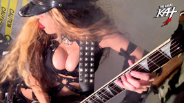 """HOT SHRED COP! From The Great Kat's """"TERROR"""" MUSIC VIDEO!"""