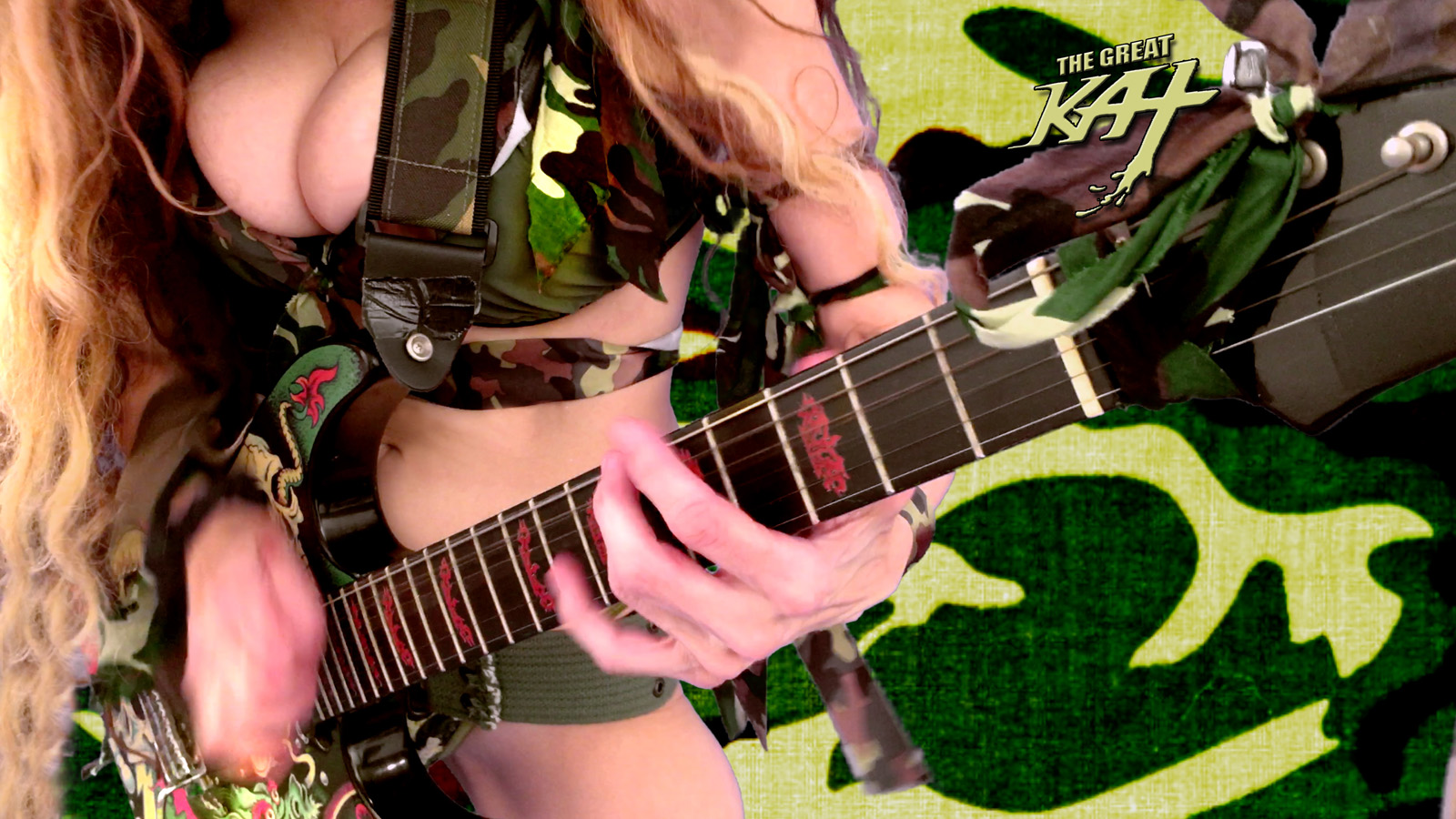 """COMBAT GODDESS!  From The Great Kat's """"TERROR"""" MUSIC VIDEO!"""