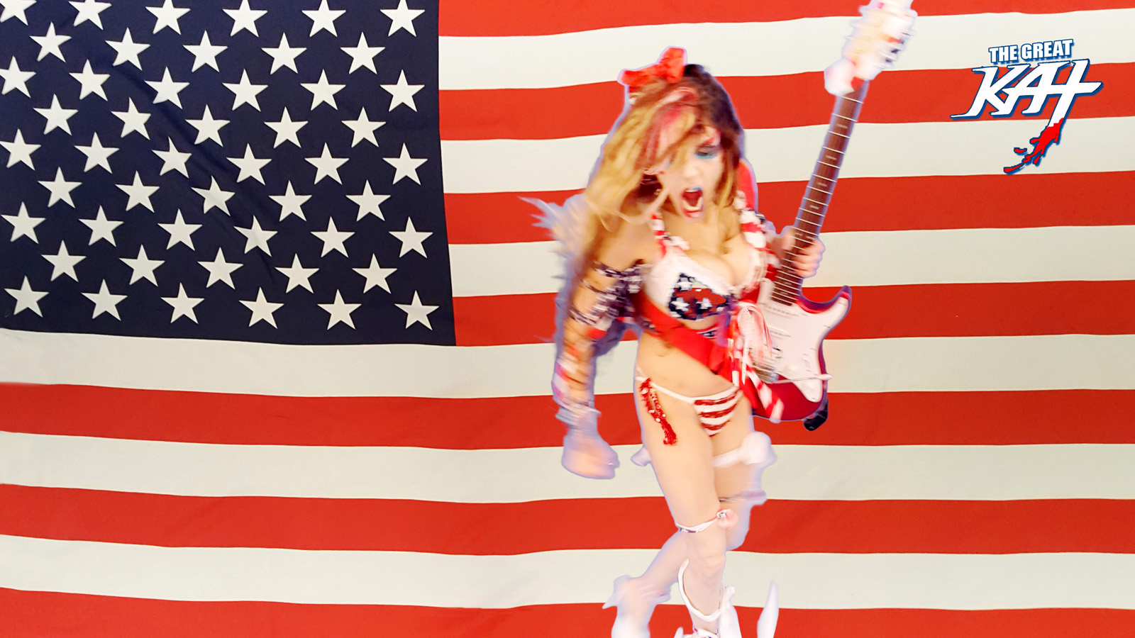 """SHRED PATRIOT! From The Great Kat's """"TERROR"""" MUSIC VIDEO!"""