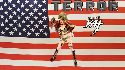 "THE GREAT KAT SALUTES HER TROOPS on ""TERROR"" MUSIC VIDEO!"