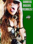 GODDESS DIGGING FOXHOLES!! SNEAK PEEK FROM NEW DVD!!!