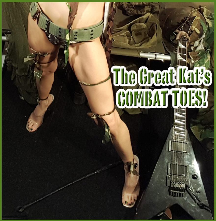 The Great Kat's COMBAT TOES!  SNEAK PEEK FROM NEW DVD!!!