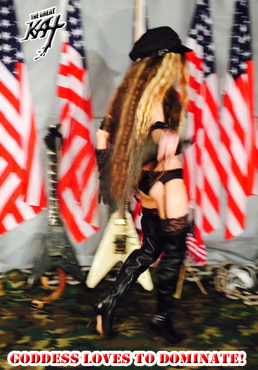 """GODDESS LOVES TO DOMINATE! From The Great Kat's """"TERROR"""" MUSIC VIDEO!"""