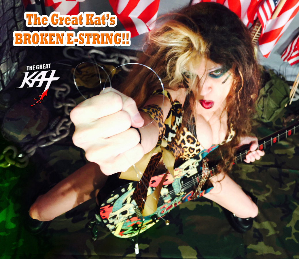 """THE GREAT KAT'S BROKEN E-STRING! From The Great Kat's """"TERROR"""" MUSIC VIDEO!"""