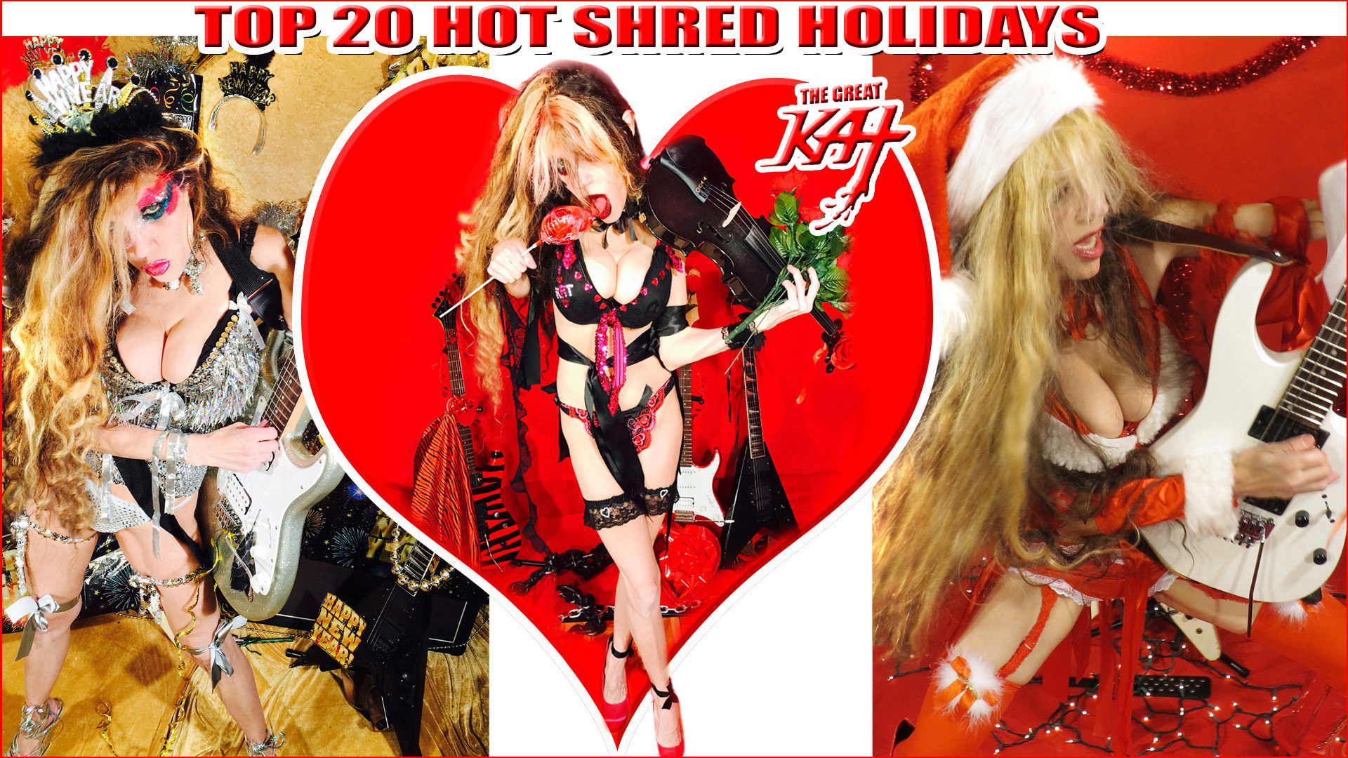 "THE GREAT KAT'S ""TOP 20 HOT SHRED HOLIDAYS!"" From The Great Kat's NEW DVD!!!!"
