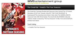 "MVD ENTERTAINMENT GROUP PRESENTS: The Great Kat's VIVALDI'S ""THE FOUR SEASONS"""
