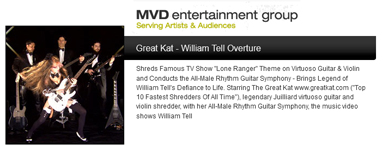"MVD ENTERTAINMENT GROUP PRESENTS: THE Great Kat's ROSSINI'S ""WILLIAM TELL OVERTURE""!"