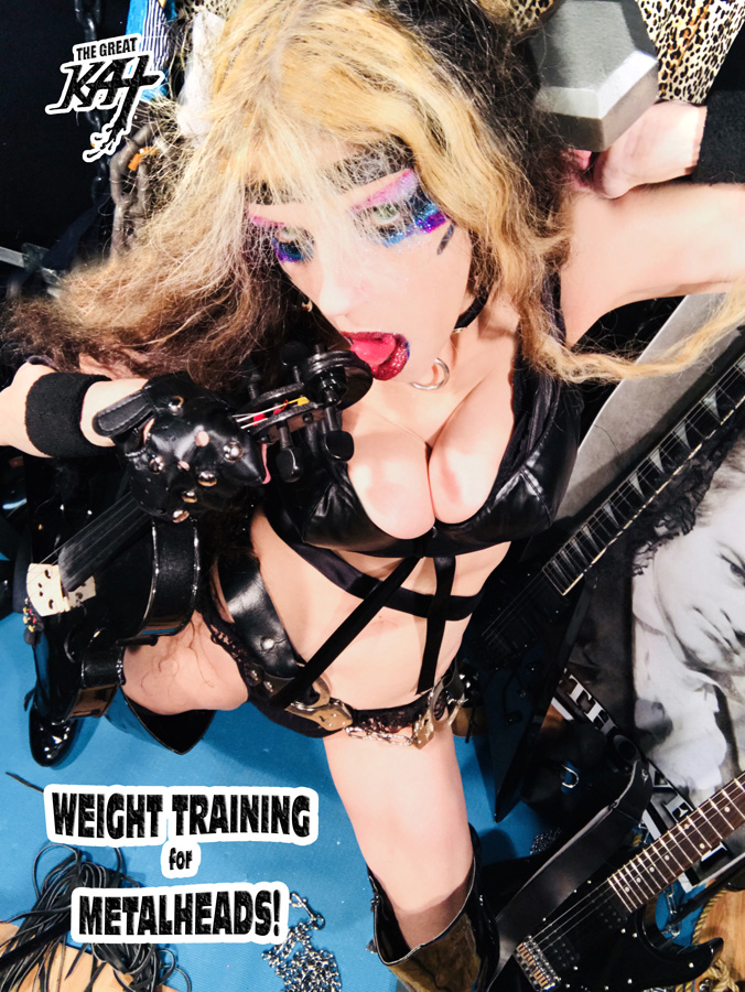 WEIGHT TRAINING FOR METALHEADS! NEW GREAT KAT CD PHOTO!