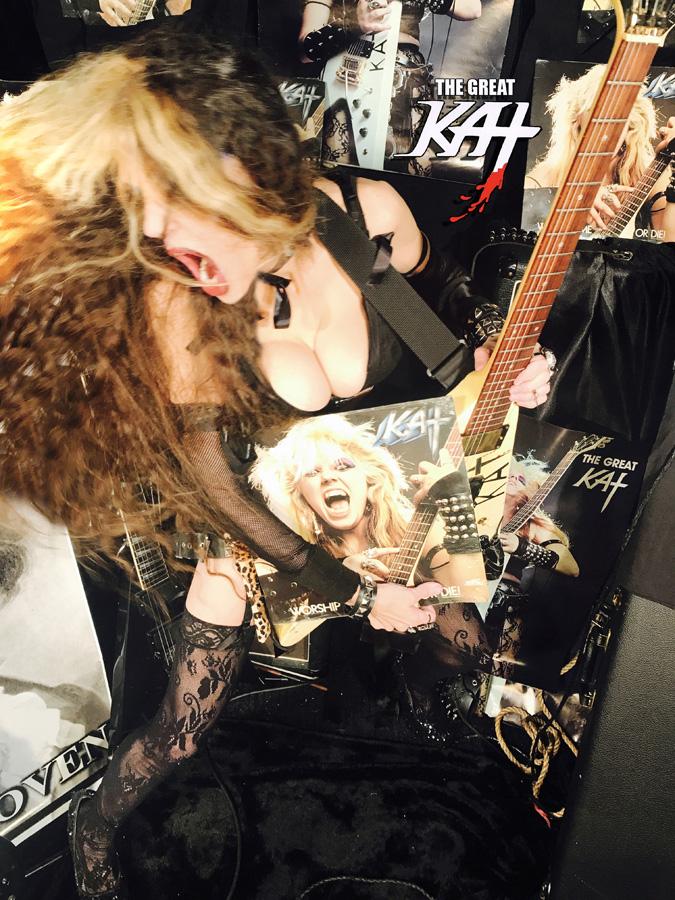 GUITAR DEMON! NEW GREAT KAT CD PHOTO!