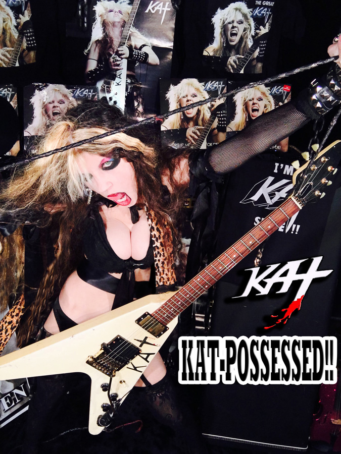 KAT-POSSESSED! NEW GREAT KAT CD PHOTO!