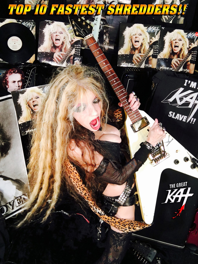 TOP 10 FASTEST SHREDDERS!! NEW GREAT KAT CD PHOTO!
