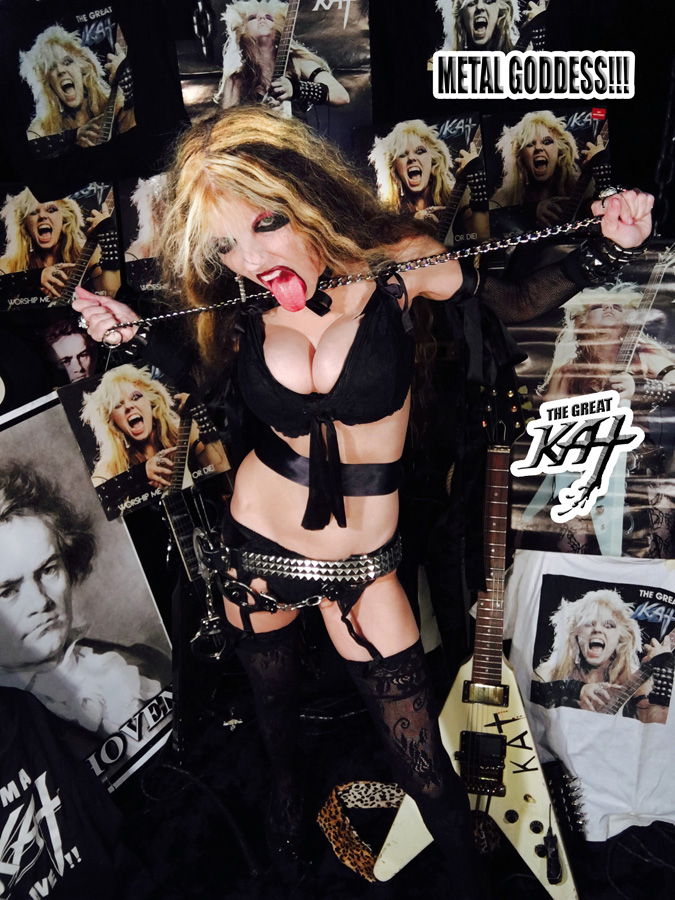 METAL GODDESS! NEW GREAT KAT CD PHOTO!