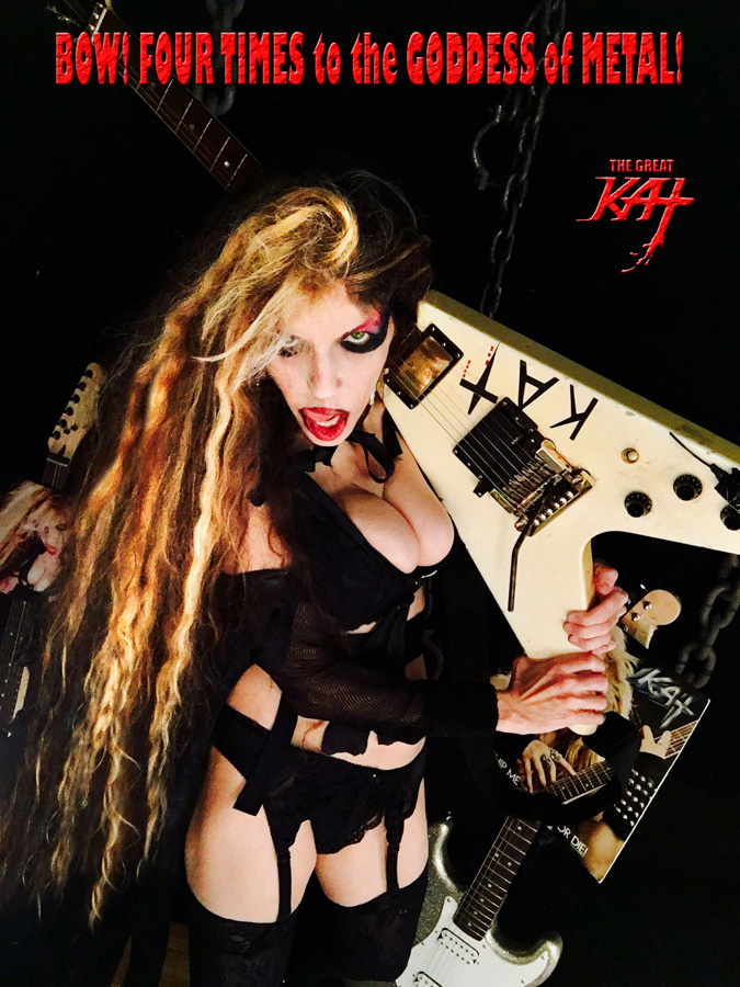 BOW! 4 TIMES to the GODDESS of METAL! NEW GREAT KAT CD PHOTO!