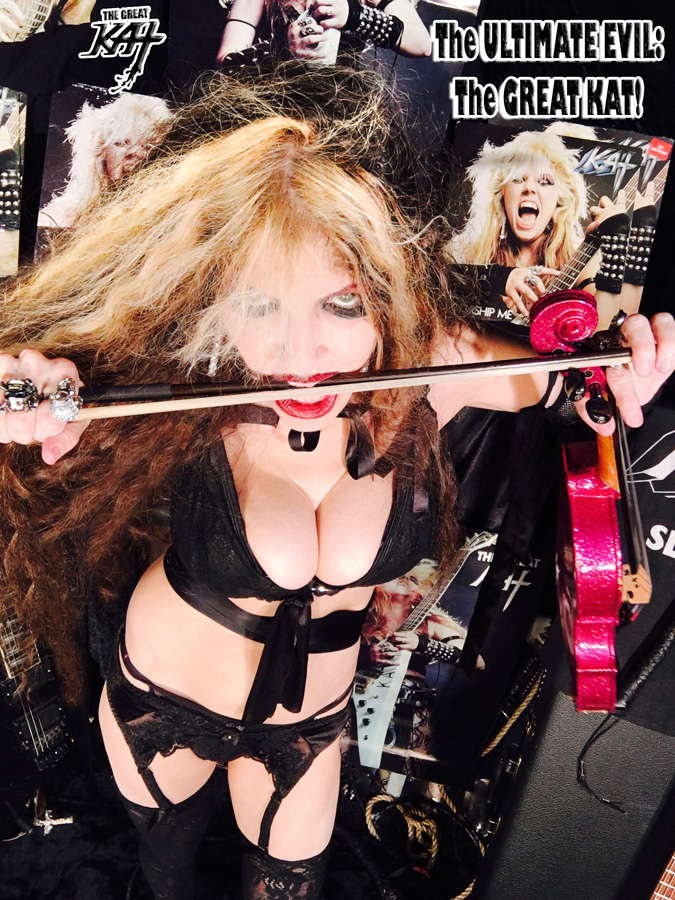 The ULTIMATE EVIL: The GREAT KAT! NEW GREAT KAT CD PHOTO!