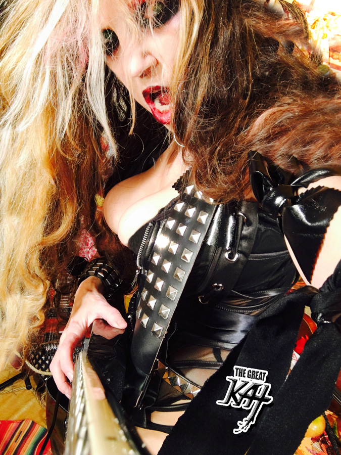 "GREAT KAT METAL ICON declares ""HAVE a METAL THANKSGIVING!!"""