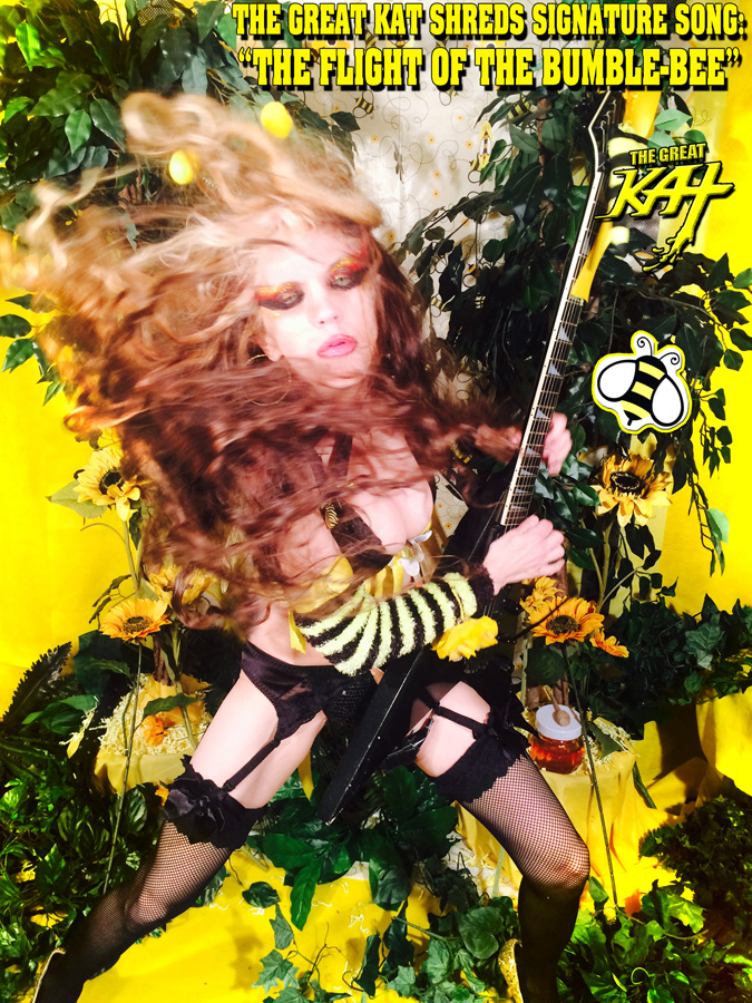 "THE GREAT KAT SHREDS SIGNATURES SONG: ""THE FLIGHT OF THE BUMBLE-BEE"""