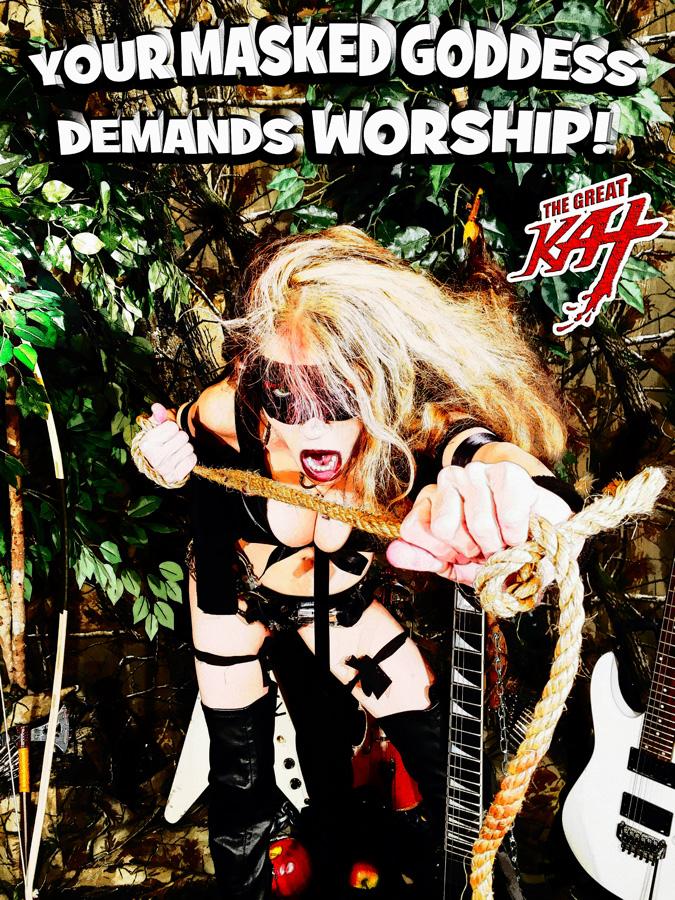 YOUR MASKED GODDESS DEMANDS WORSHIP! KAT KARTOON!