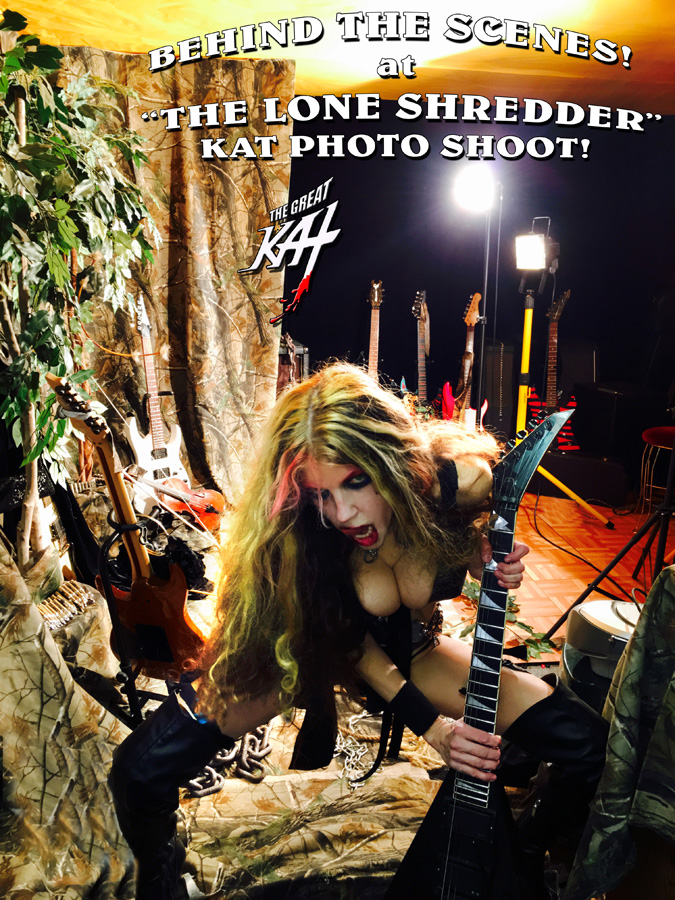 "BEHIND THE SCENES! at ""THE LONE SHREDDER"" KAT PHOTO SHOOT!"