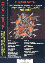 "COLLECTOR'S ITEM! ""THRASH METAL"" CASSETTE FEATURING THE GREAT KAT'S ""METAL MESSIAH""!"